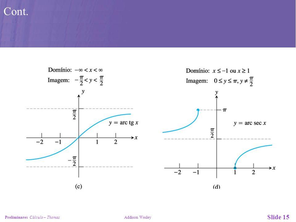 Slide 16 Preliminares Cálculo – Thomas Addison Wesley Cont.