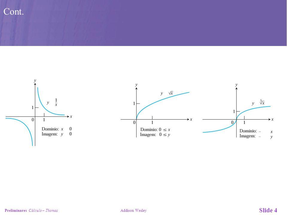 Slide 4 Preliminares Cálculo – Thomas Addison Wesley Cont.