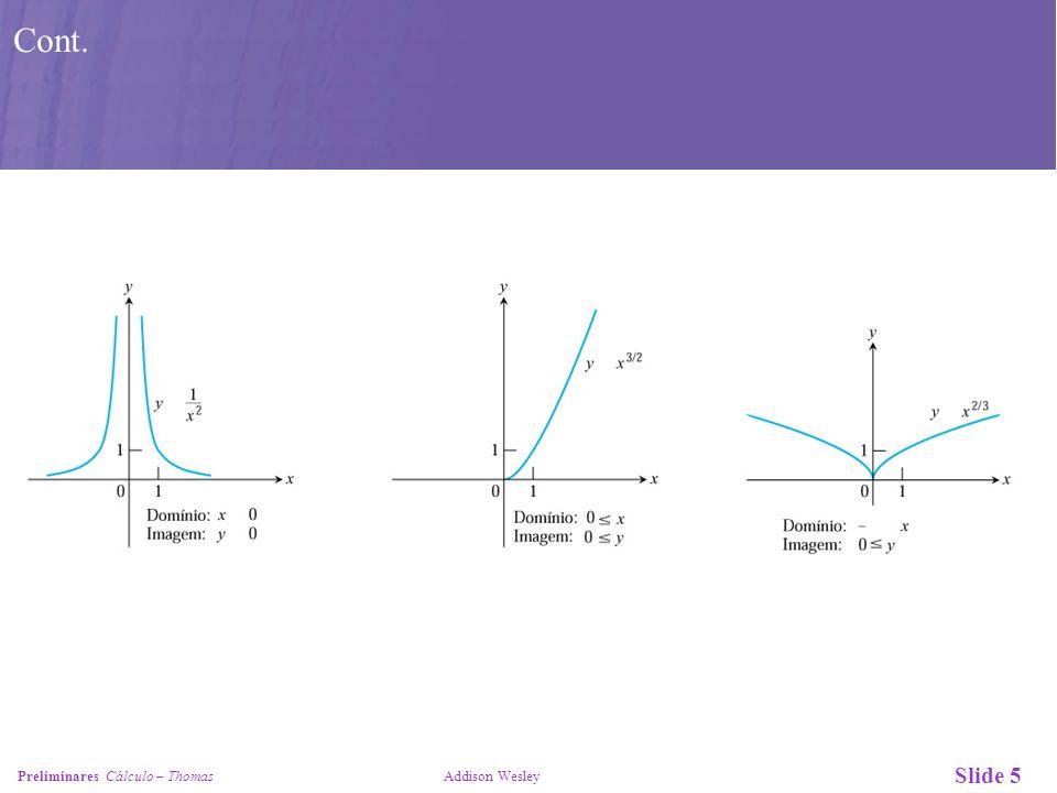 Slide 5 Preliminares Cálculo – Thomas Addison Wesley Cont.