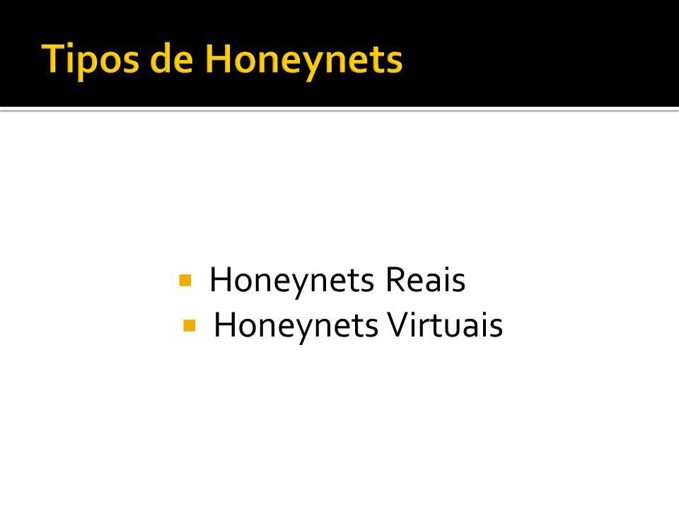 Honeynets Reais Honeynets Virtuais