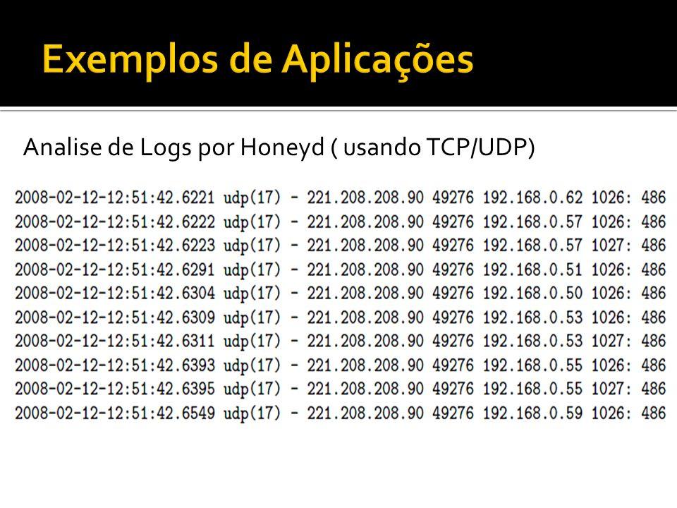 Analise de Logs por Honeyd ( usando TCP/UDP)