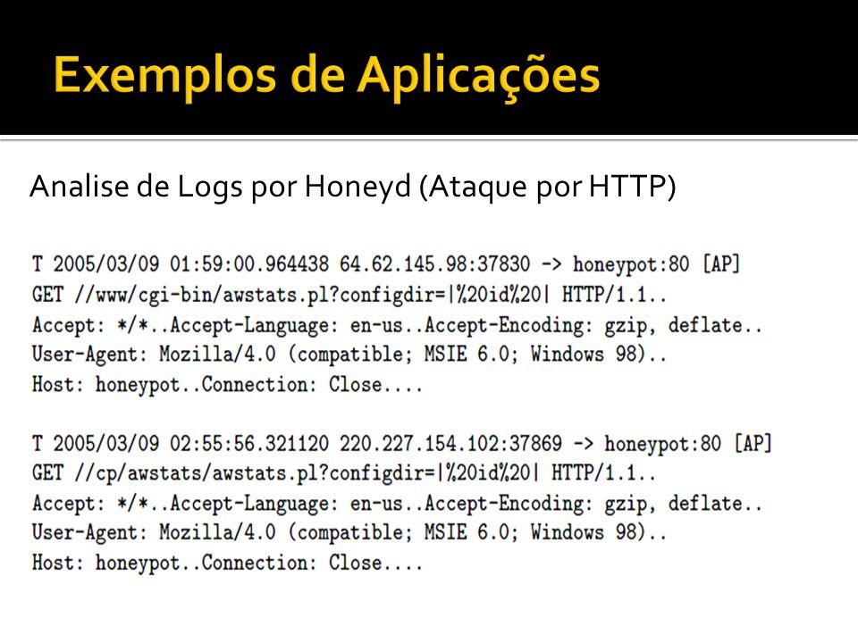 Analise de Logs por Honeyd (Ataque por HTTP)