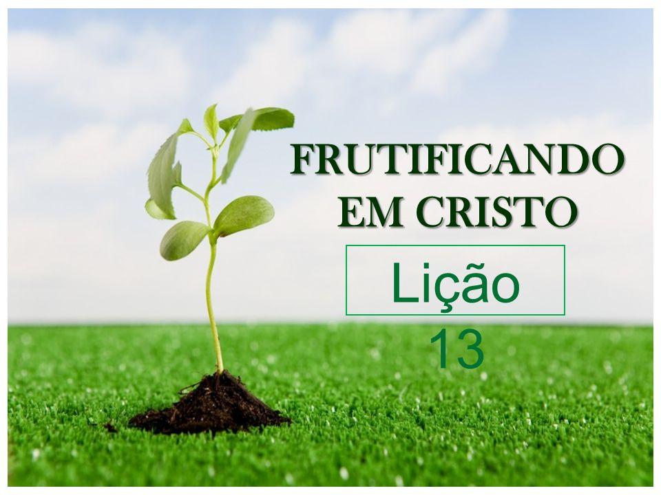 FRUTIFICANDO EM CRISTO Lição 13