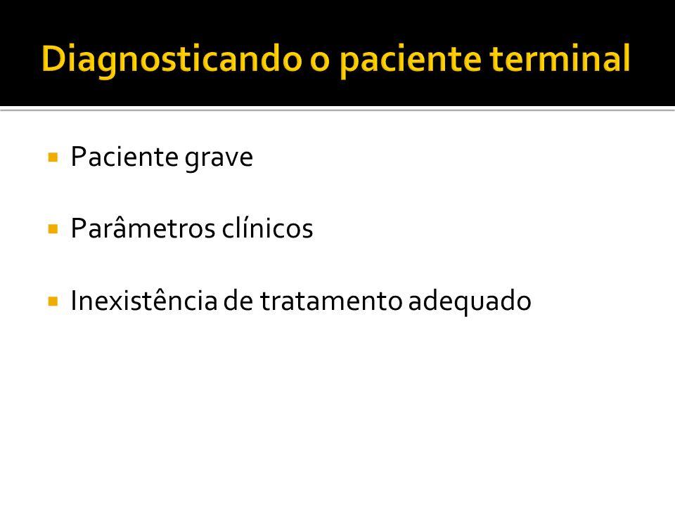 Paciente grave Parâmetros clínicos Inexistência de tratamento adequado