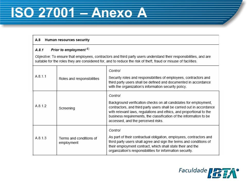 ISO 27001 – Anexo A