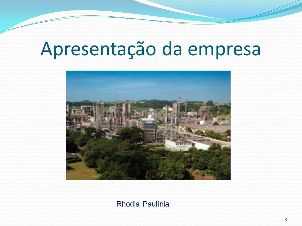 3 Apresentação da empresa Rhodia Paulínia