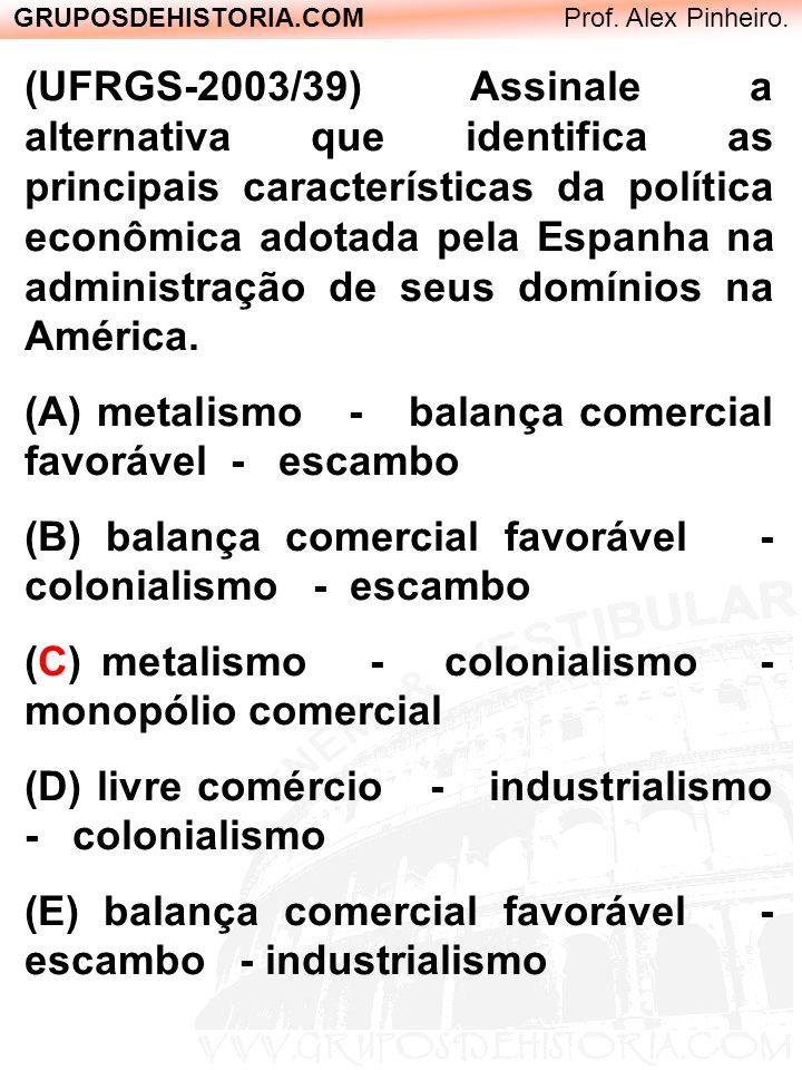 (UFRGS-2003/39) Assinale a alternativa que identifica as principais características da política econômica adotada pela Espanha na administração de seu