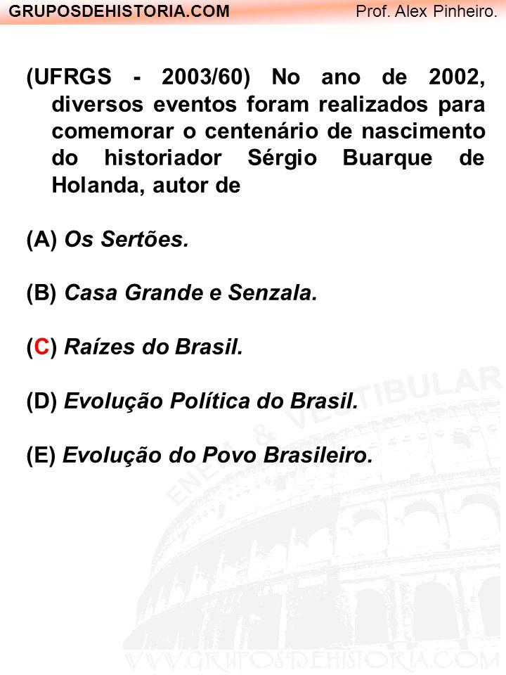 GRUPOSDEHISTORIA.COM Prof. Alex Pinheiro. (UFRGS - 2003/60) No ano de 2002, diversos eventos foram realizados para comemorar o centenário de nasciment