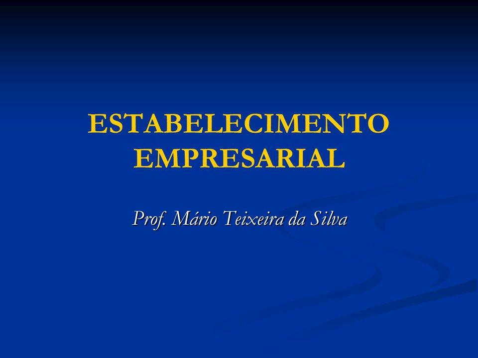 ESTABELECIMENTO EMPRESARIAL Prof. Mário Teixeira da Silva