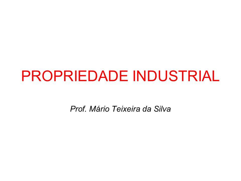PROPRIEDADE INDUSTRIAL Prof. Mário Teixeira da Silva