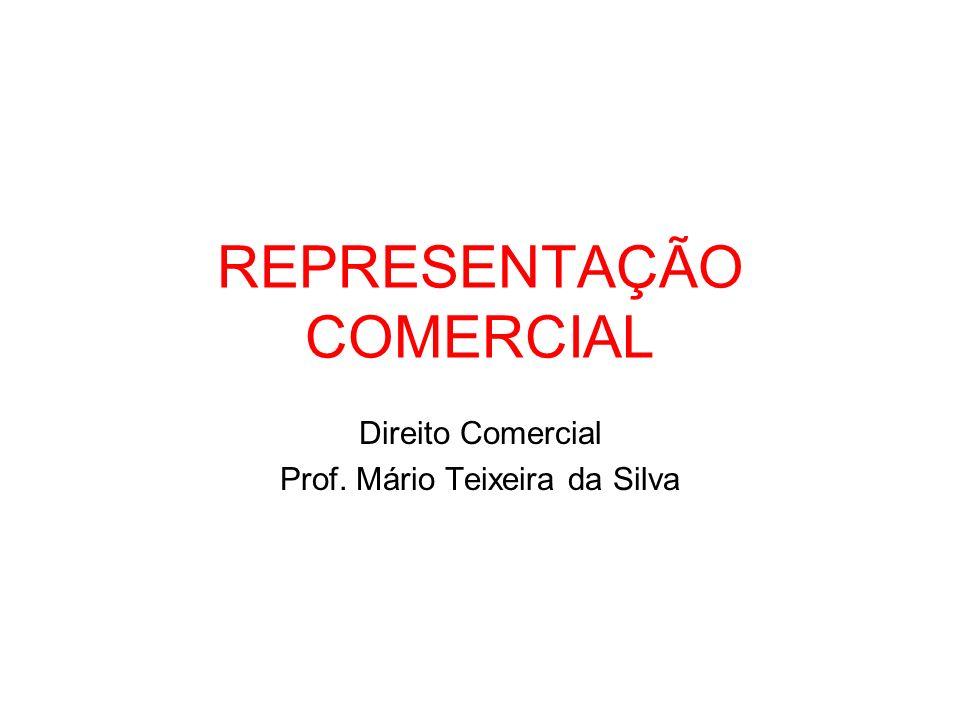 REPRESENTAÇÃO COMERCIAL Direito Comercial Prof. Mário Teixeira da Silva