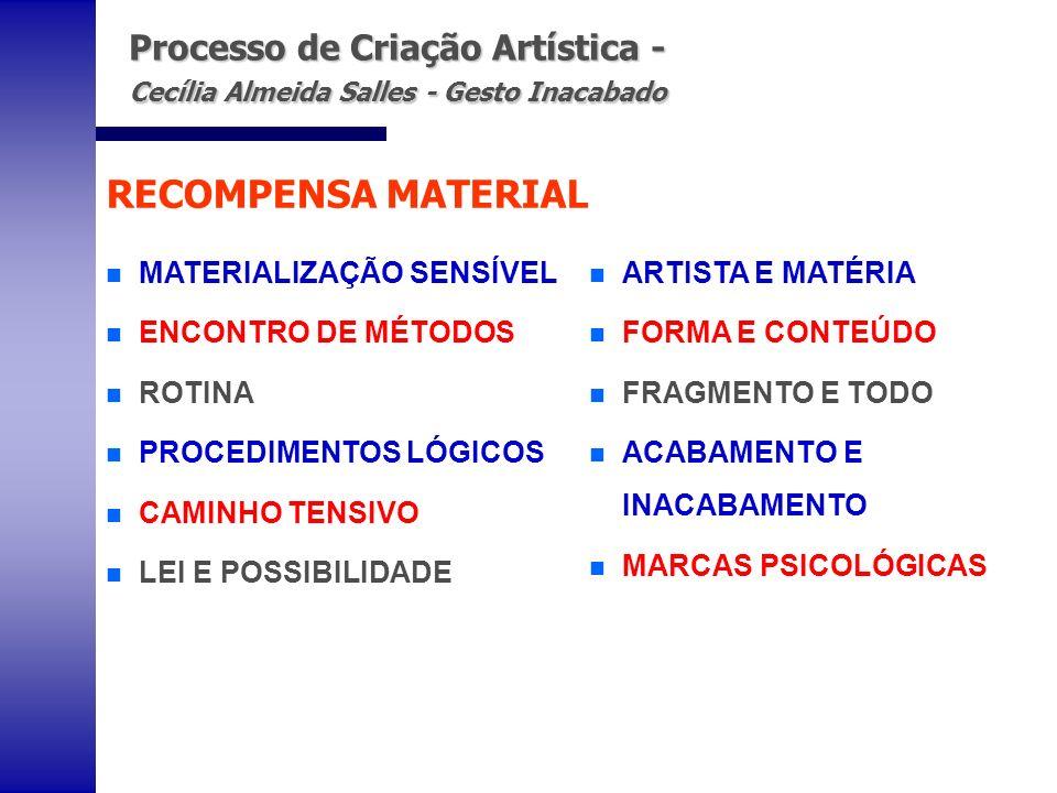 Processo de Criação Artística - Cecília Almeida Salles - Gesto Inacabado Processo de Criação Artística - Cecília Almeida Salles - Gesto Inacabado n MA