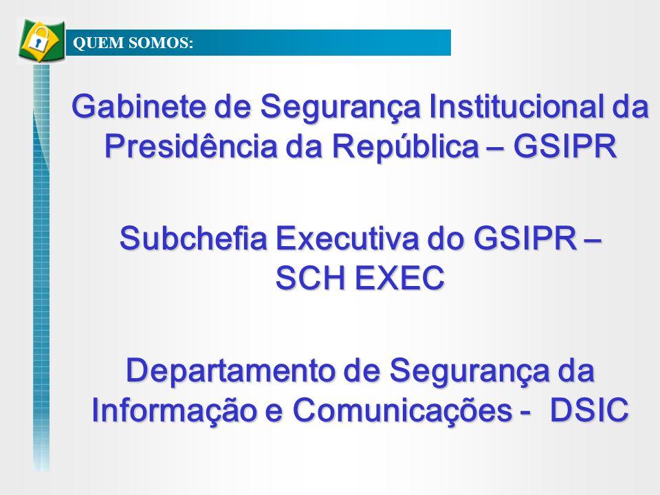 Gabinete de Segurança Institucional da Presidência da República – GSIPR Subchefia Executiva do GSIPR – SCH EXEC Departamento de Segurança da Informaçã