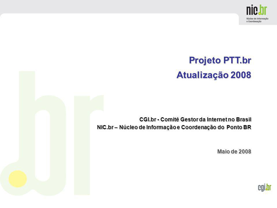 www.cgi.br PTTmetro – Members Accounting Data from 2008-05-18 ATM:Acordo de Troca de Tráfego Multilateral Multilateral Traffic Exchange Agreement LG:Looking Glass Feed
