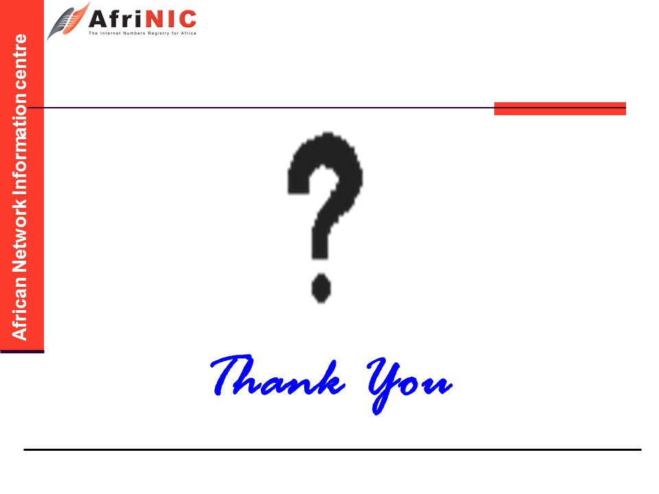 African Network Information centre Thank You