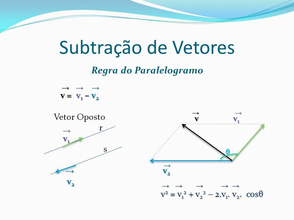 Multiplicação de Vetores p = n.v v = 10 1) 2. v = 2.