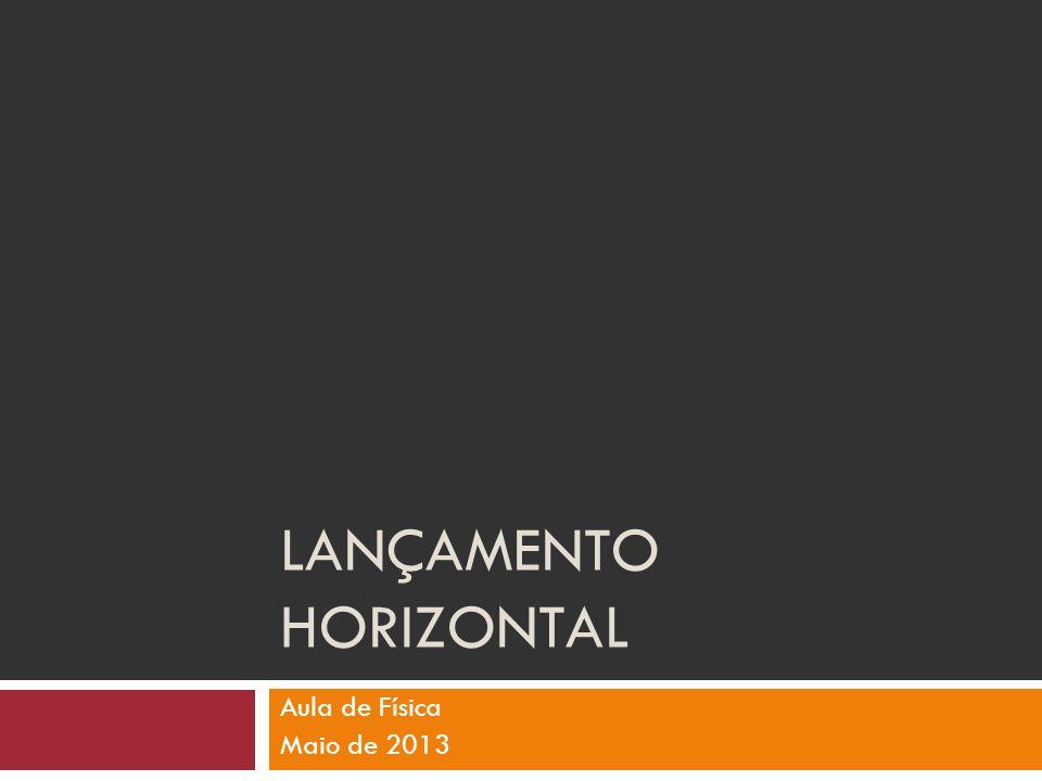 LANÇAMENTO HORIZONTAL Aula de Física Maio de 2013