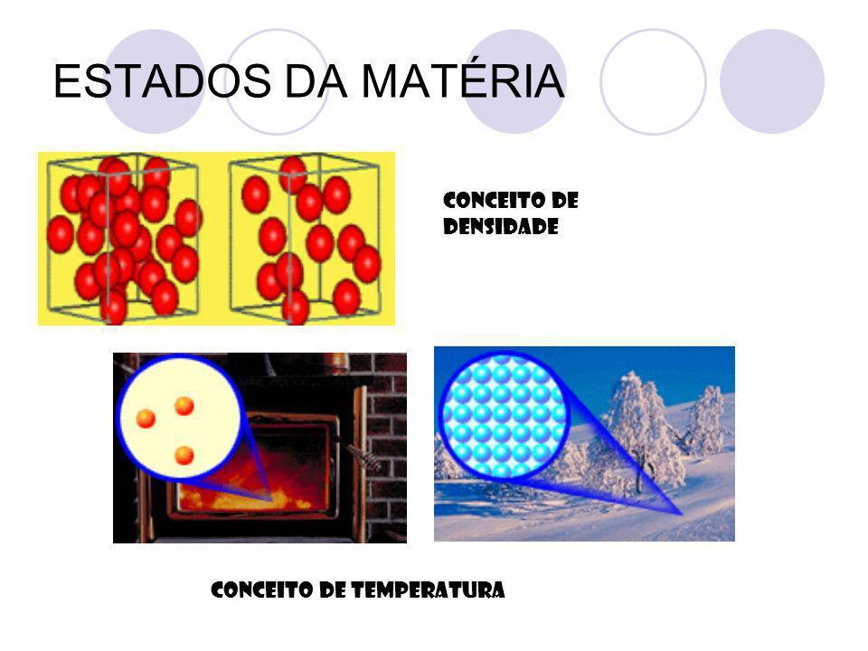 ESTADOS DA MATÉRIA CONCEITO DE TEMPERATURA CONCEITO DE DENSIDADE