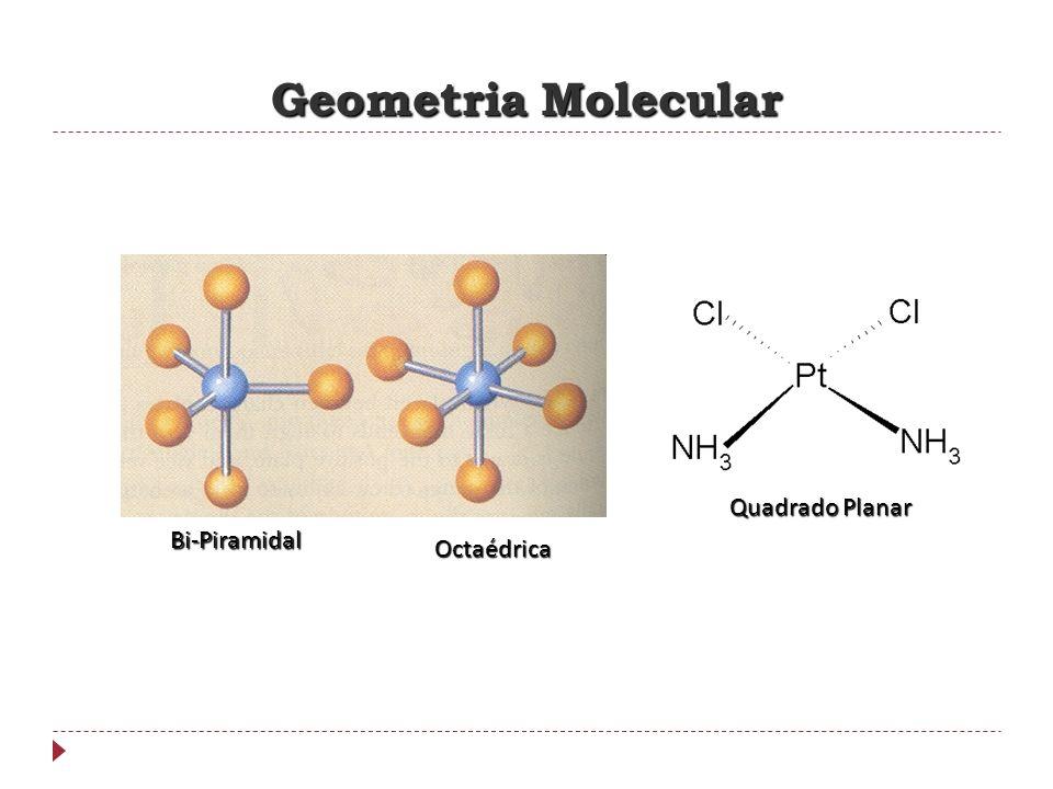 Geometria Molecular Bi-Piramidal Octaédrica Quadrado Planar