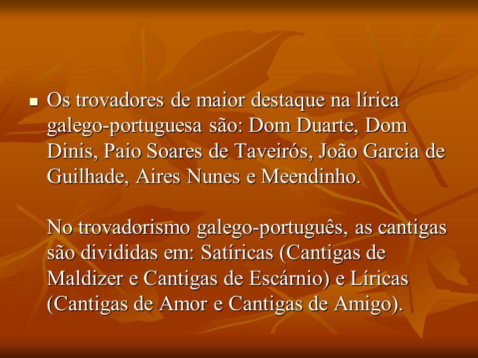 Trovadores Trovadores Na lírica medieval, os trovadores eram os artistas de origem nobre, que compunham e cantavam, com o acompanhamento de instrument