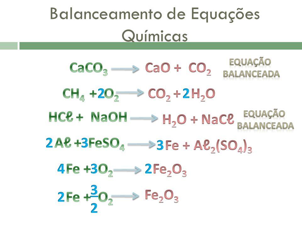 Balanceamento de Equações Químicas