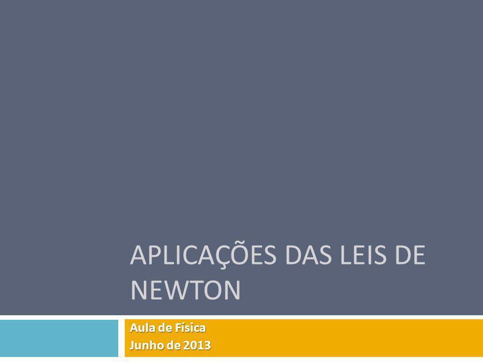 APLICAÇÕES DAS LEIS DE NEWTON Aula de Física Junho de 2013