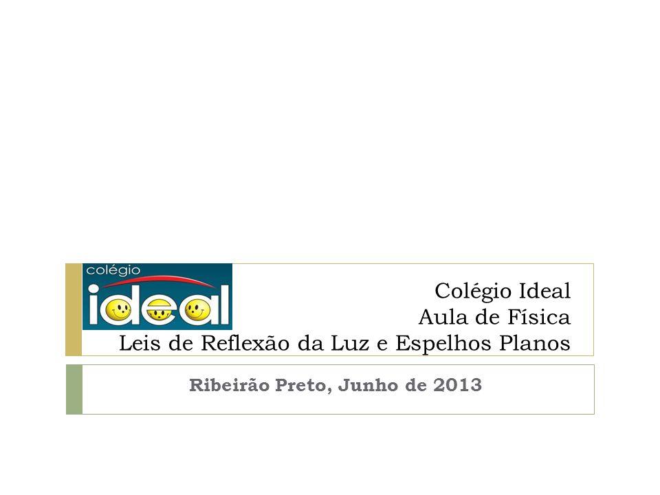 Colégio Ideal Aula de Física Leis de Reflexão da Luz e Espelhos Planos Ribeirão Preto, Junho de 2013