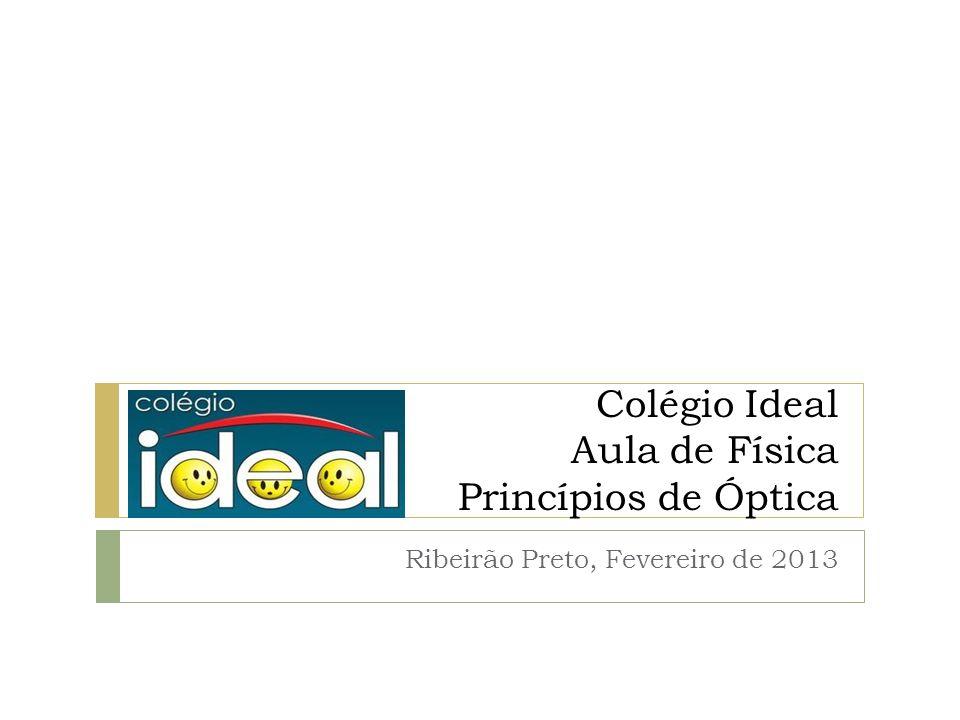 Colégio Ideal Aula de Física Princípios de Óptica Ribeirão Preto, Fevereiro de 2013