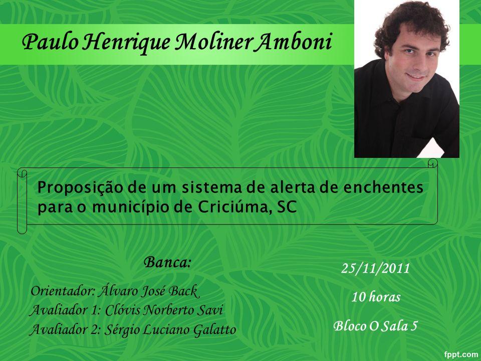 Paulo Henrique Moliner Amboni Banca: Orientador: Álvaro José Back Avaliador 1: Clóvis Norberto Savi Avaliador 2: Sérgio Luciano Galatto 25/11/2011 10