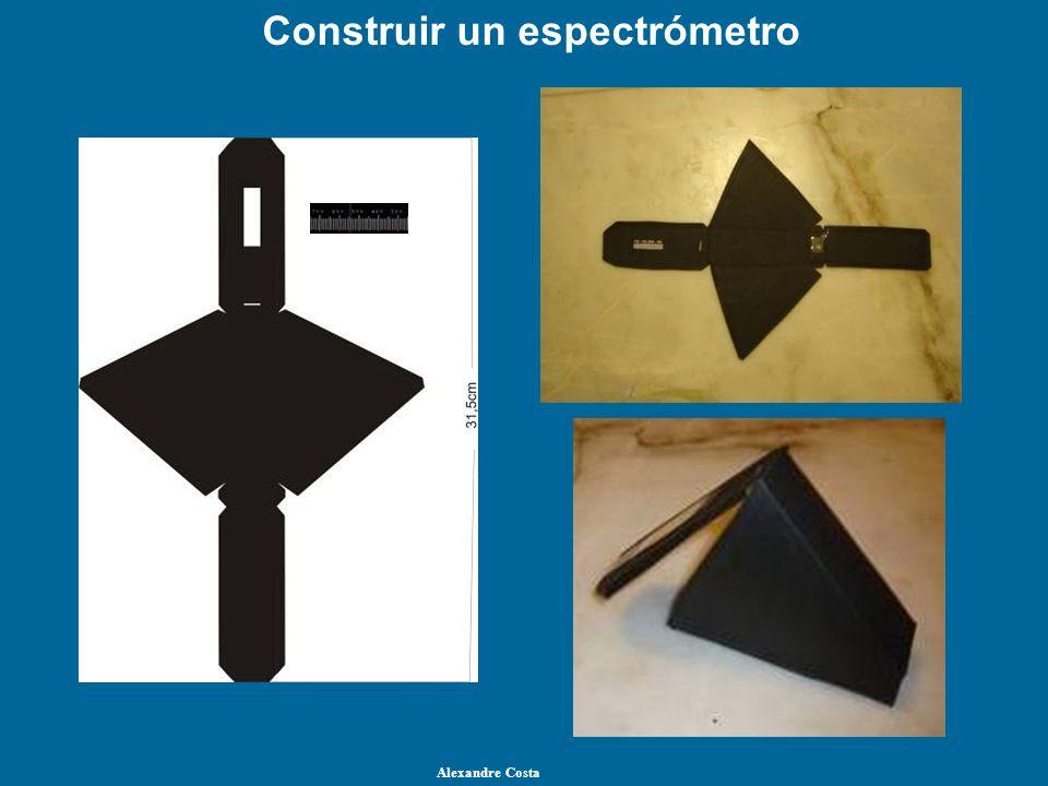 Construir un espectrómetro Alexandre Costa