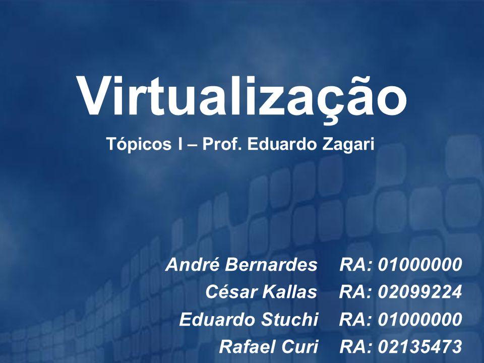 2 Virtualização Introdução Funcionamento Benefícios Estudo de Caso Demonstração Conclusão