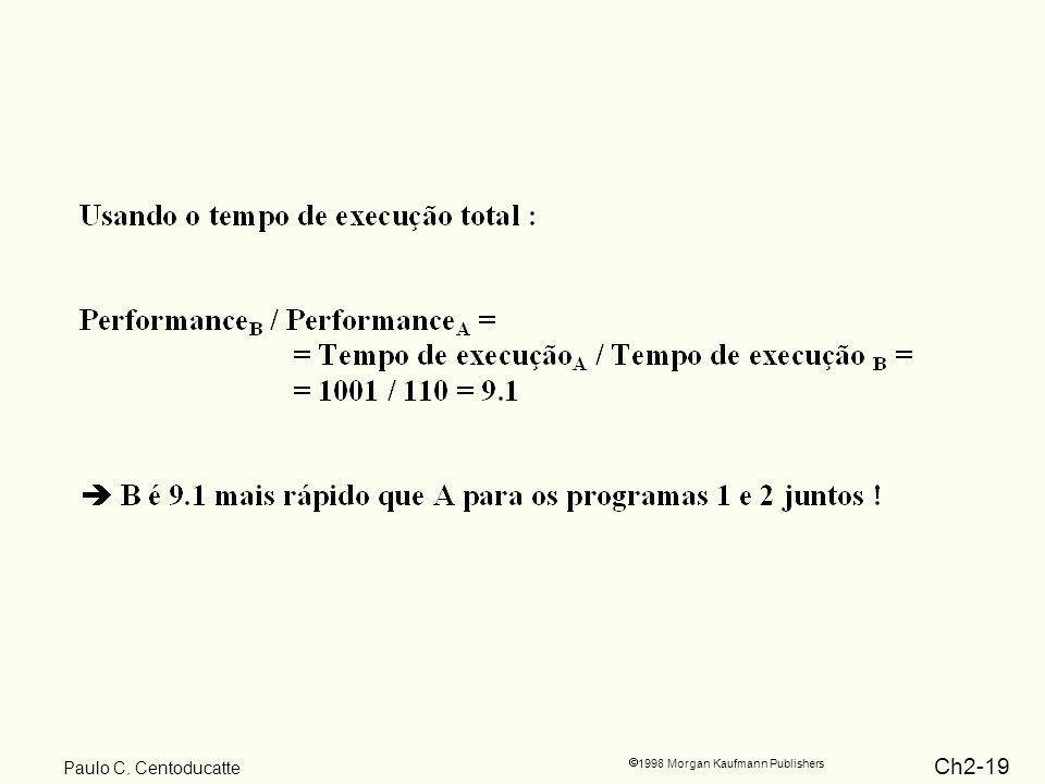 Ch2-19 1998 Morgan Kaufmann Publishers Paulo C. Centoducatte