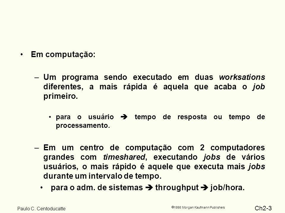 Ch2-14 1998 Morgan Kaufmann Publishers Paulo C. Centoducatte