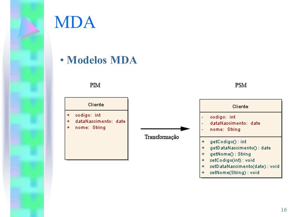 16 MDA Modelos MDA