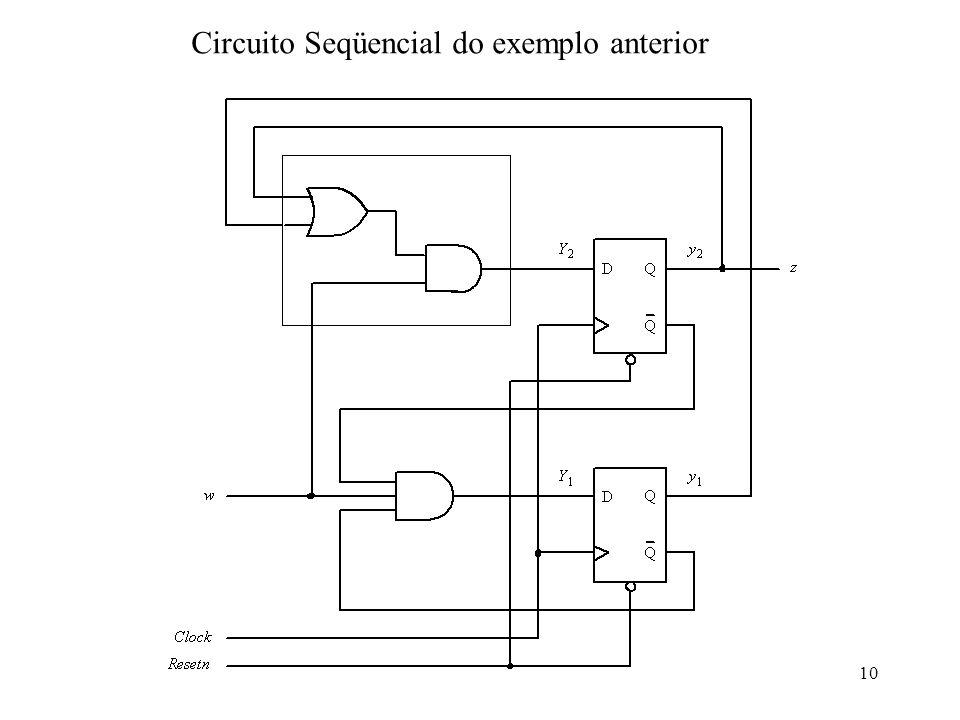 10 Circuito Seqüencial do exemplo anterior