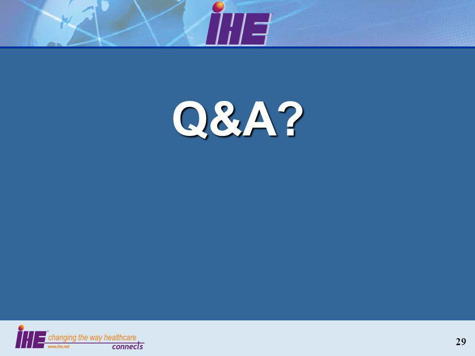 29 Q&A?