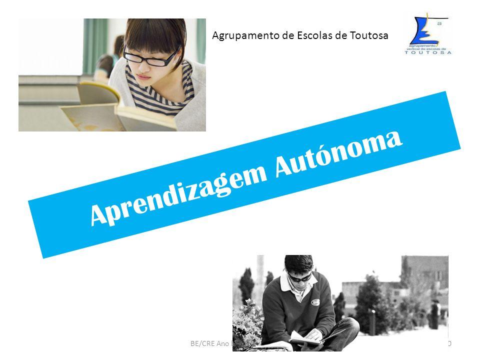Aprendizagem Autónoma BE/CRE Ano lectivo 2009/201020 Agrupamento de Escolas de Toutosa
