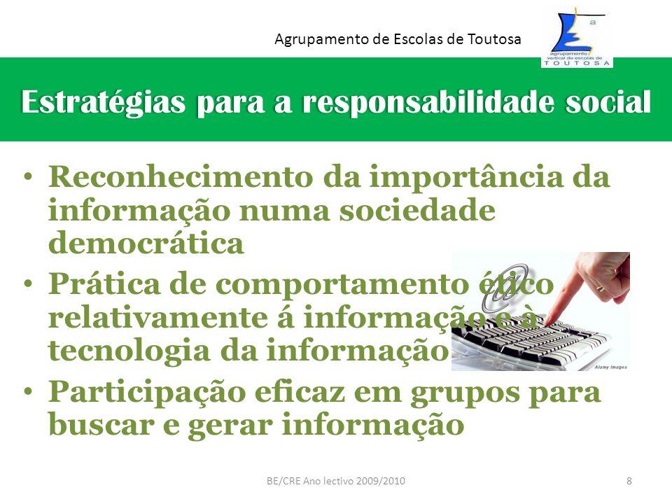 Estratégias para a responsabilidade socialEstratégias para a responsabilidade social Reconhecimento da importância da informação numa sociedade democr