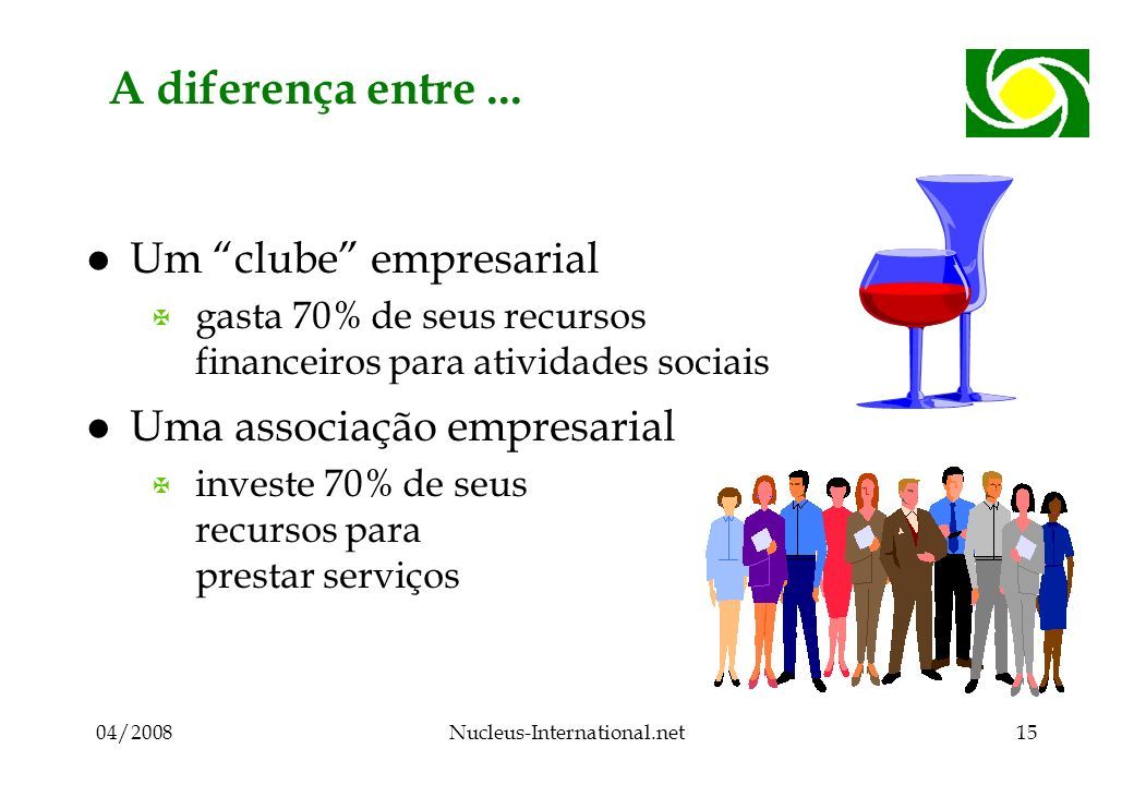 04/2008Nucleus-International.net15 A diferença entre...
