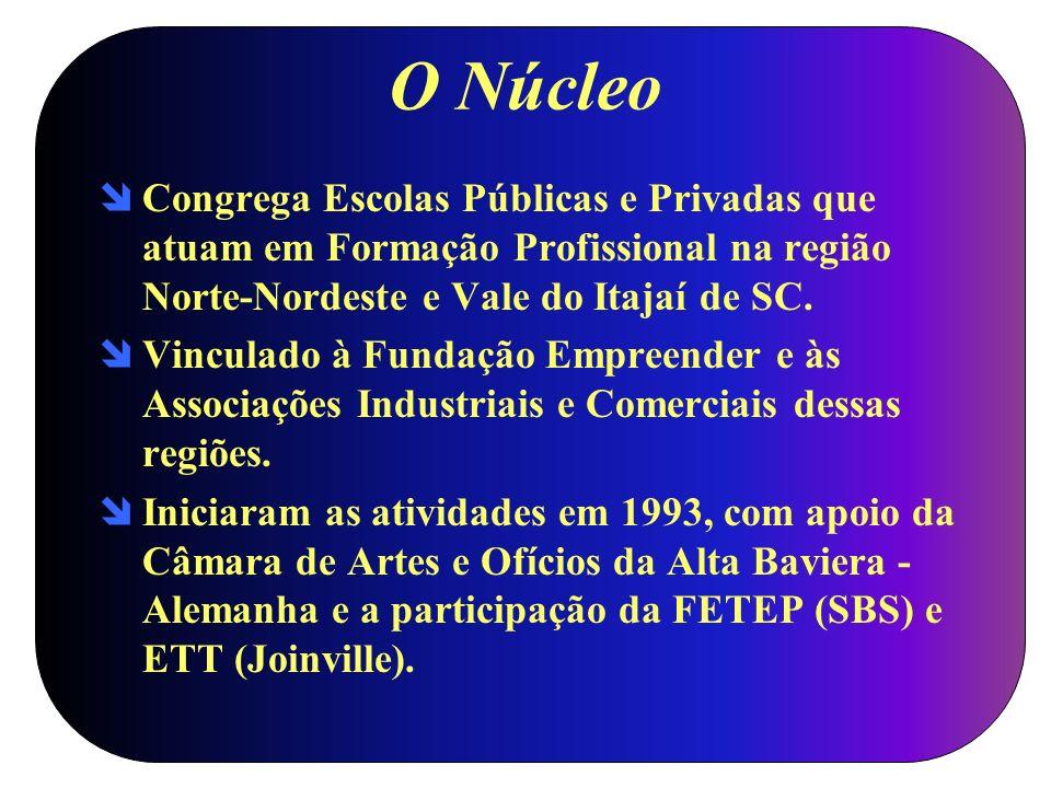 O Núcleo Congrega Escolas Públicas e Privadas que atuam em Formação Profissional na região Norte-Nordeste e Vale do Itajaí de SC. Vinculado à Fundação