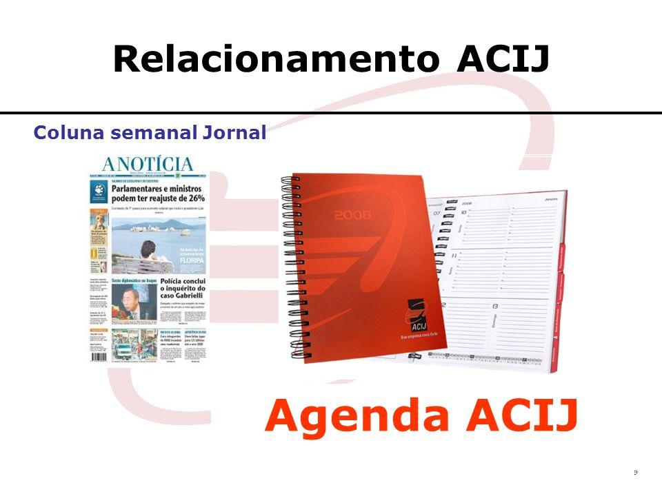 Relacionamento ACIJ Agenda ACIJ Coluna semanal Jornal