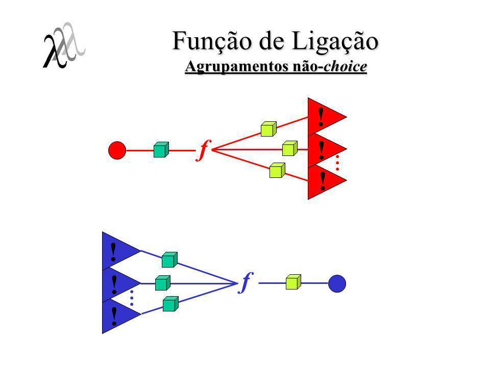 f ! ! ! Função de Ligação Agrupamentos não-choice f ! … ! ! …
