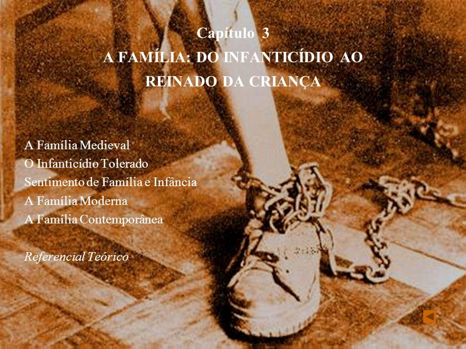 Capítulo 3 A FAMÍLIA: DO INFANTICÍDIO AO REINADO DA CRIANÇA A Família Medieval O Infanticídio Tolerado Sentimento de Família e Infância A Família Mode