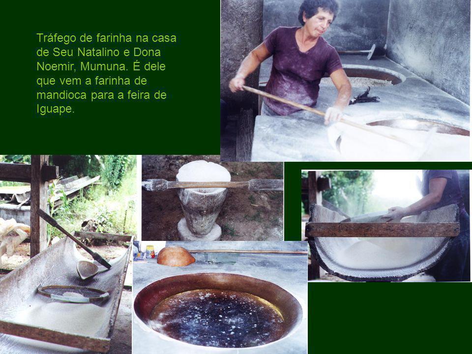 Tráfego de farinha na casa de Seu Natalino e Dona Noemir, Mumuna. É dele que vem a farinha de mandioca para a feira de Iguape.