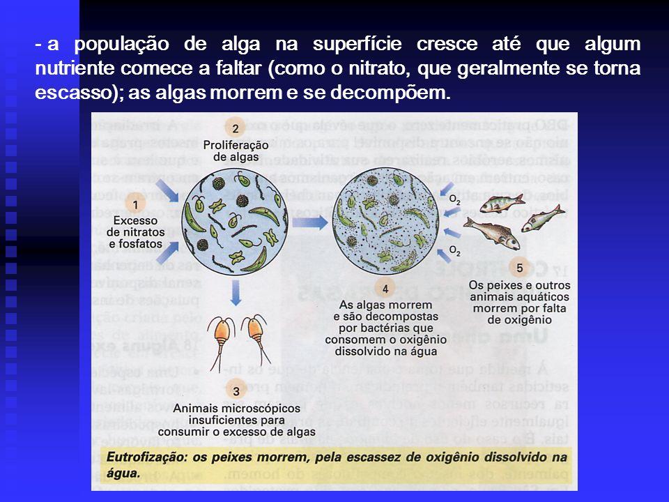 POLUIÇÃO DA ÁGUA, considera-se que a água está poluída quando nela forem introduzidas substâncias que alteram as suas propriedades físicas, químicas e