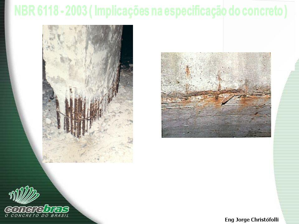 Eng Jorge Christófolli A previsão do início da corrosão, baseada na velocidade de avanço da carbonatação e na espessura do cobrimento, pode ser feita