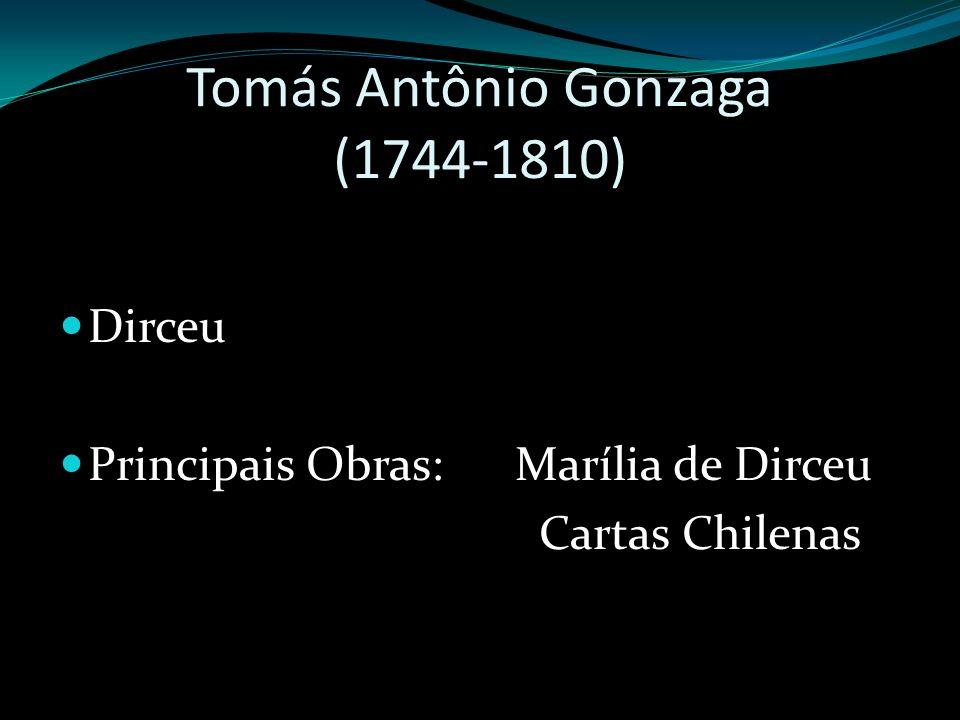 Tomás Antônio Gonzaga (1744-1810) Dirceu Principais Obras: Marília de Dirceu Cartas Chilenas