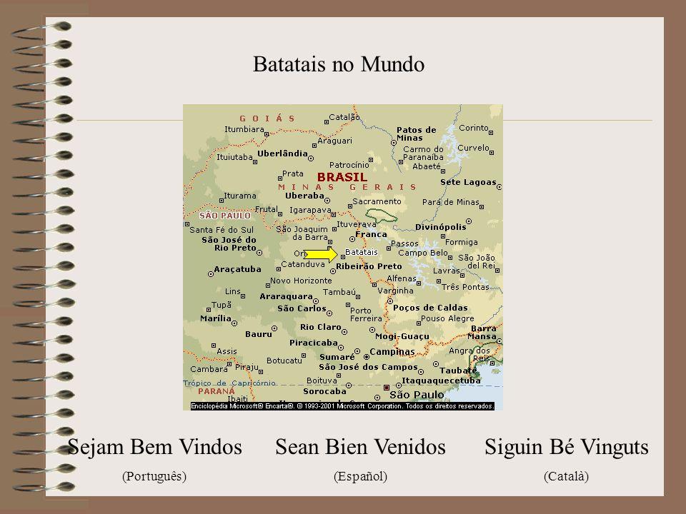 Batatais no Mundo Siguin Bé Vinguts (Català) Sejam Bem Vindos (Português) Sean Bien Venidos (Español)