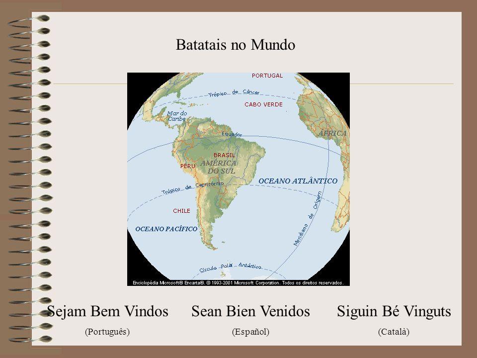 Batatais no Mundo Sejam Bem Vindos (Português) Sean Bien Venidos (Español) Siguin Bé Vinguts (Català)