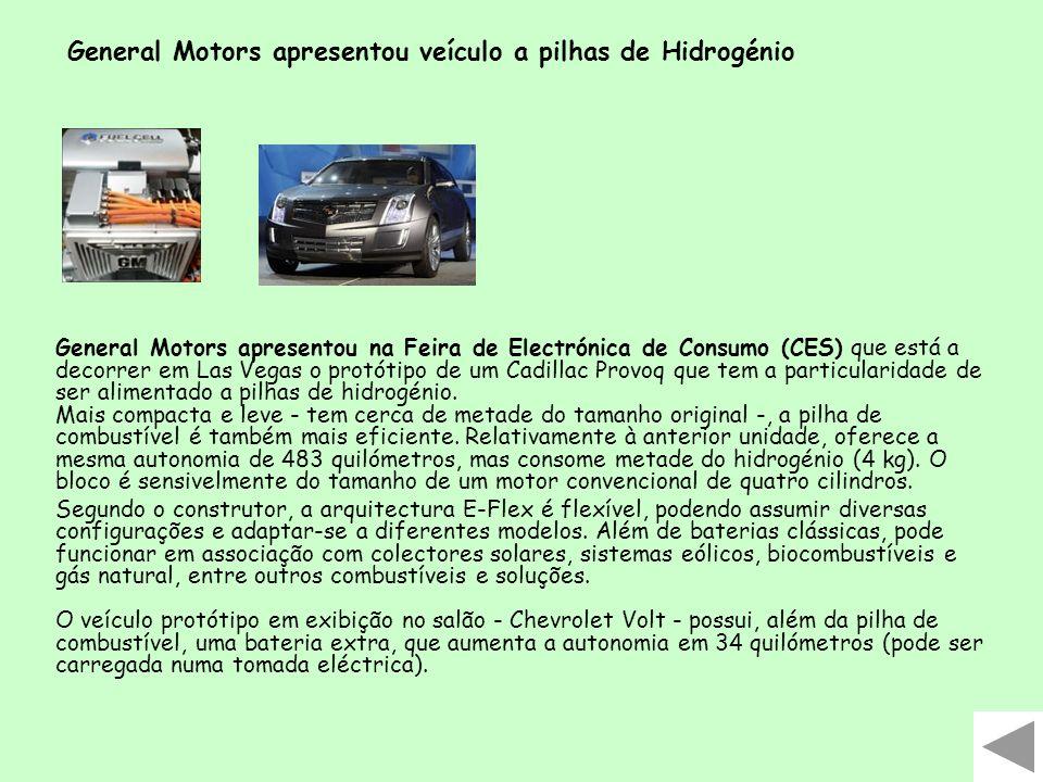 General Motors apresentou na Feira de Electrónica de Consumo (CES) que está a decorrer em Las Vegas o protótipo de um Cadillac Provoq que tem a partic
